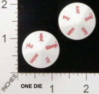 Dice : D10 OPAQUE ROUNDED SOLID KOPLOW POLISH WORDS FOR NUMBERS 01