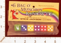 Dice : MINT26 STEVE JACKSON GAMES BAG O MUNCHKIN RAINBOW D6 01