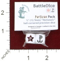 Dice : MINT44 BATTLESCHOOL BATTLEDICE NATIONALS PARTIZAN PACK