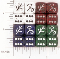 Dice : D6 OPAQUE ROUNDED SPECKLED DAGON 01