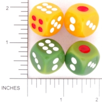 Dice : D6 OPAQUE ROUNDED SOLID ORIENTAL 01