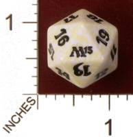 Dice : D20 OPAQUE ROUNDED SPECKLED MTG LIFE COUNTERS M13 02