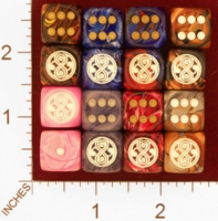 Dice : MINT26 CHESSEX CUSTOM FOR EBAY RACERSKA DOCTOR WHO SEAL OF RASSILON 01