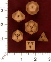 Dice : MINT29 SHAPEWAYS INTERIUS WORKSHOP TRIFORCE DICE 6 PIECED SET 01