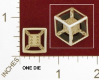 Dice : MINT24 SHAPEWAYS JVO CHAINED DIE 6 SIDED