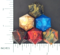Dice : D20 OPAQUE SHARP IRIDESCENT CHESSEX MENAGERIE 01