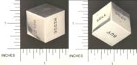 Dice : METAL CHROME D6 03 BOMBAY DUCK 01 STOCKS