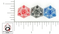 Dice : D8 CLEAR ROUNDED SOLID Q WORKSHOP ELVEN II 01