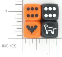 Dice : D6 OPAQUE ROUNDED SOLID CHESSEX CUSTOM 15 FOR JSPASSNTHRU BAT RETRIEVER