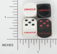Dice : D6 2 OPAQUE ROUNDED SOLID ORACLE 01