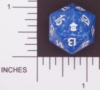Dice : D20 OPAQUE ROUNDED SPECKLED MTG LIFE COUNTERS SAVIORS 01