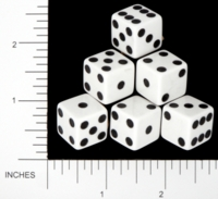Dice : NON NUMBERED OPAQUE AND CLEAR ROUNDED SOLID GAMESTATION JUST CNINZ