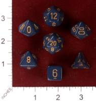 Dice : MINT30 CHESSEX 25426 DUSTY BLUE WITH GOLD 01