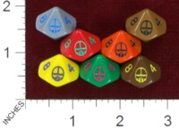 Dice : D10 OPAQUE ROUNDED SOLID MERCS LLC MERCS 02