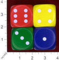 Dice : FOAM2 EAI EDUCATION QUIETSHAPE DOT DICE 01