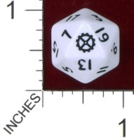 Dice : D20 OPAQUE ROUNDED SOLID PRODOS GAMES MUTANT CHRONICLES .BAUHAUS