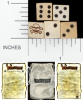 Dice : WOOD D6 DISNEY PIRATES OF THE CARIBBEAN PIRATES LIAR DICE 01