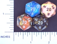 Dice : D20 OPAQUE ROUNDED IRIDESCENT CHESSEX MENAGERIE 02