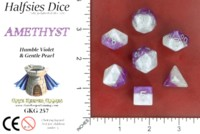 Dice : MINT52 GATE KEEPER GAMES HALFSIES DICE ADAPT AMETHYST