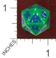Dice : D20 OPAQUE ROUNDED SPECKLED MTG LIFE COUNTERS DRAGONS MAZE 10