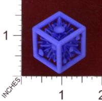 Dice : MINT29 SHAPEWAYS MCTRIVIA D6 GRID DIE 09 10