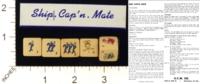 Dice : MINT18 S C M SHIP CAPT N MATE 01
