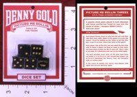 Dice : MINT35 BENNY GOLD DICE SET