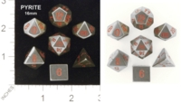 Dice : STONE MULTI CRYSTAL CASTE PYRITE 16MM 01