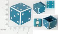 Dice : METAL ALUMINUM D6 15 ERIC KRUSENSTJERNA HIDDEN COMPARTMENT 02