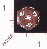 Dice : D20 OPAQUE ROUNDED SPECKLED MTG LIFE COUNTERS FROM THE VAULT DRAGONS 01