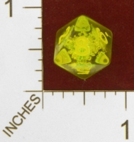 Dice : D8 CLEAR ROUNDED SOLID CRYSTAL CASTE BUBUBBLES 01