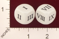 Dice : MINT19 KOPLOW ROMAN NUMBERS 01