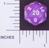 Dice : D20 OPAQUE ROUNDED SWIRL CHESSEX WILD 01