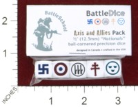 Dice : MINT44 BATTLESCHOOL BATTLEDICE NATIONALS AXIS AND ALLIES PACK