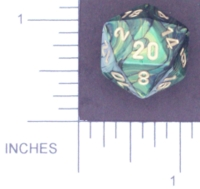 Dice : D20 OPAQUE ROUNDED IRIDESCENT CHESSEX UNNAMED 01