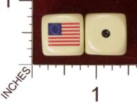 Dice : MINT29 YAK YAKS US REVOLUTIONARY WAR FLAG 01