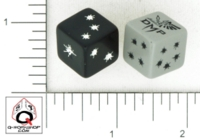 Dice : D6 OPAQUE ROUNDED SOLID Q WORKSHOP DMP 01