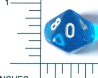 Dice : D10 CLEAR ROUNDED SOLID 2