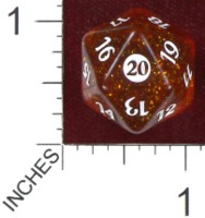 Dice : D20 CLEAR ROUNDED GLITTER WIZARDS OF THE COAST MTG FROM THE VAULT TWENTY