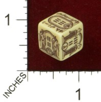 Dice : MINT43 TINDERBOX ENTERTAINMENT DICE EMPIRE SERIES 1 HIEROGLYPHIC