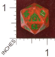 Dice : D20 OPAQUE ROUNDED SPECKLED MTG LIFE COUNTERS DRAGONS MAZE 07