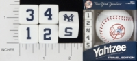 Dice : NUMBERED OPAQUE ROUNDED SOLID USAOPOLY NEW YORK YAHKEES YAHTZEE 01