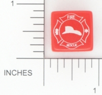 Dice : D6 OPAQUE ROUNDED SOLID GAMESTATION FIRE RESCUE