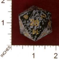 Dice : STONE D20 CRYSTAL CASTE OBSIDIAN OBSIDIAN 01
