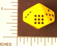 Dice : D10 OPAQUE ROUNDED SOLID JUMBO PIPPED 3