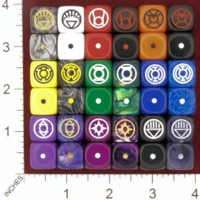 Dice : MINT26 CHESSEX CUSTOM DC LANTERN CORPS 01