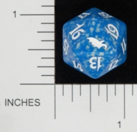 Dice : D20 OPAQUE ROUNDED SPECKLED MTG LIFE COUNTERS SHADOWMOOR 03