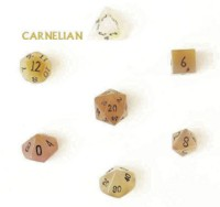 Dice : DUPS02 MIXED CRYSTAL CASTE CARNELIAN
