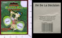 Dice : MINT29 AMSCAN GOLF FANATIC DECISION DICE