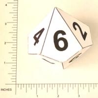 Dice : PAPER D10 MICROTACTIX 4